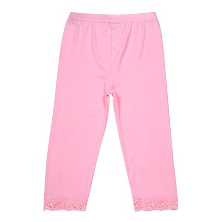 Angels face pink lace trim leggings