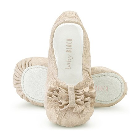 Baby Bloch Cream Ruffle Shimmer Ballet Shoes