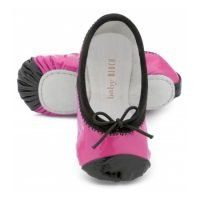 Baby Bloch Hot Pink & Black Patent Ballet Shoes