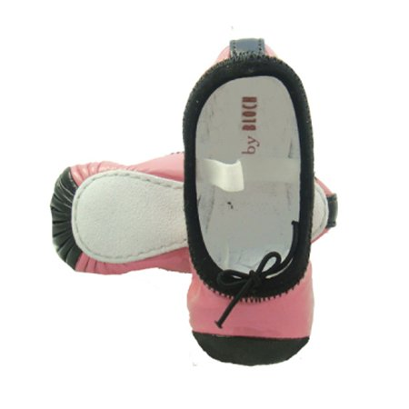 Baby Bloch Pink & Black Patent Ballet Shoes