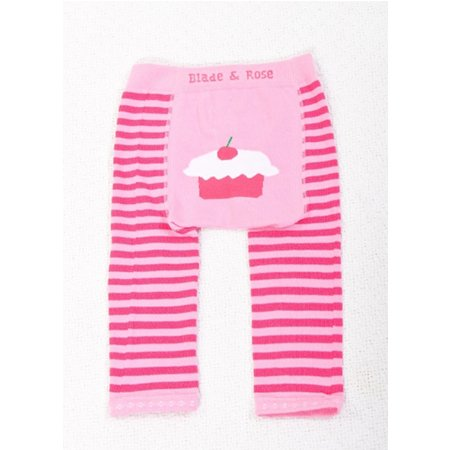 Blade And Rose Pink Stripe Cupcake Leggings