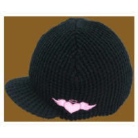 Born To Love Clothing Black With Pink Beanie Hat