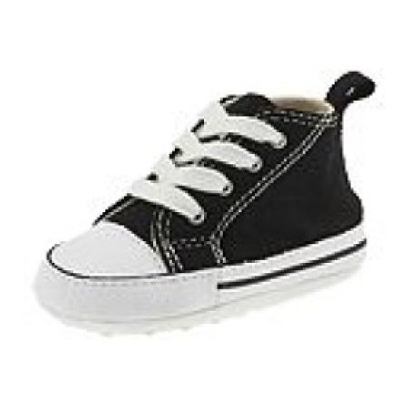 Converse Baby Black Canvas Crib Shoe