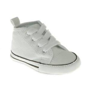 Converse Baby White Canvas Crib Shoes