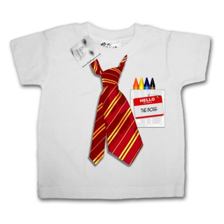 Dirty Fingers The Boss Tie White T Shirt