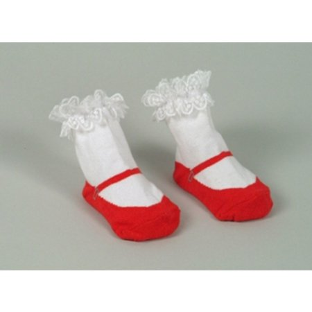 Dolly & Dimples Red Mary Jane Socks