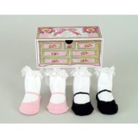 Dolly & Dimples 2 Pk Mary Janes Socks