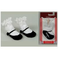 Dolly & Dimples Black Mary Jane Socks