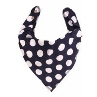 Bandana Bib In Blue And White Polka Dot