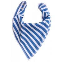 Bandana Bib In French Blue Stripe