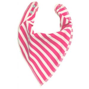Bandana Bib In Hot Pink Stripe