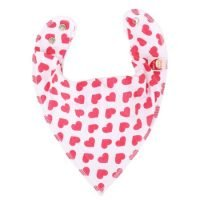 Bandana Bib Red Hearts