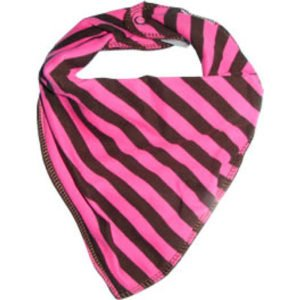 Bandana Bib In Brown And Pink Stripe