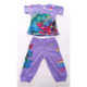 Ed Hardy Lilac Capri Pant Set Butterfly Design