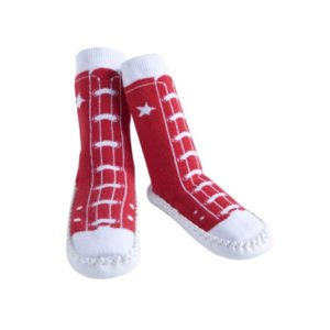 Jazzy Toes Red Sneaker Slipper Socks