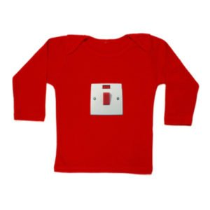 Kit N Kin On/Off Switch Red Long Sleeve T Shirt