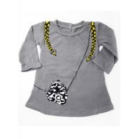 Mini Shatsu Grey Pigtails Dress