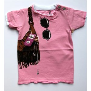 Mini Shatsu Pink Shopping And Music Tee