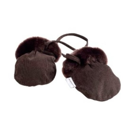 Minimink Faux Fur Brown Mittens