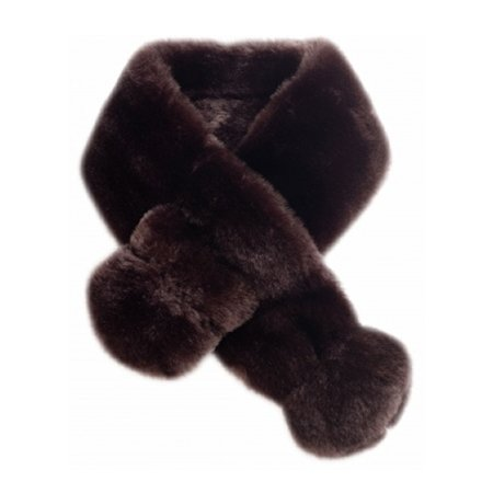 Minimink Faux Fur Brown Scarf