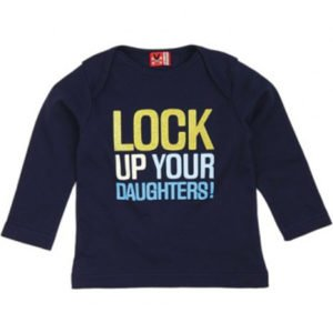 No Added Sugar lock up your daughters Navy T shirt