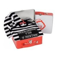Oh Baby London Been Inside Blk & White Stripe Gift Set
