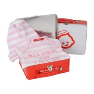 Oh Baby London Been Inside For Nine Months Girls Pink Gift Set