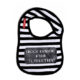 Oh Baby London Been Inside Black And White Bib