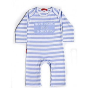 Oh Baby London Been Inside Blue & White Stripe Playsuit