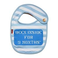 Oh Baby London Been Inside for 9 Months Blue Bib