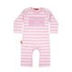 Oh Baby London Been Inside Pink & White Stripe Playsuit
