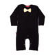Oh Baby London Gold Bow Tie Black Playsuit
