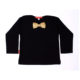Oh Baby London Gold Bow Tie Black Top