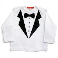 Oh Baby London Tux Long Sleeve Top