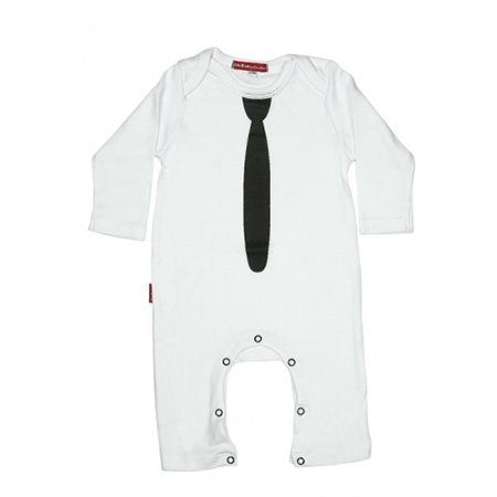Oh Baby London Tie White Playsuit