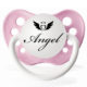 "Personalized Pacifiers ""Angel"" Pink Dummy"