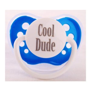 "Personalized Pacifiers ""Cool Dude"" Blue Dummy"