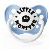"Personalized Pacifiers ""Little Monster"" Blue Dummy"