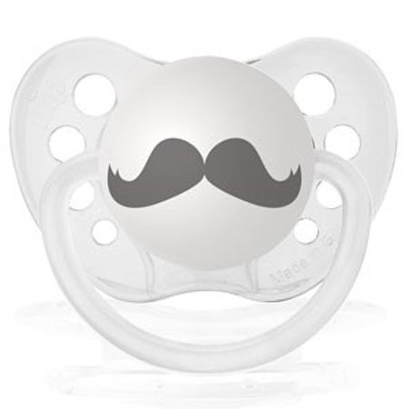 Personalized Pacifiers Mustache Clear Dummy