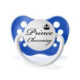 "Personalized Pacifiers ""Prince Charming"" Blue Dummy"