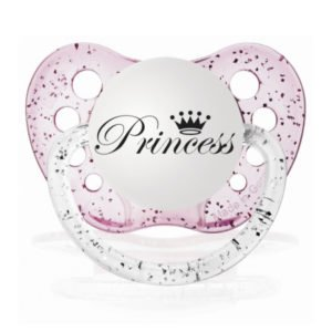 "Personalized Pacifiers ""Princess"" Pink Glitter Dummy"