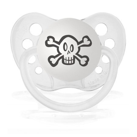 Personalized Pacifiers Skull Clear Transparent Dummy