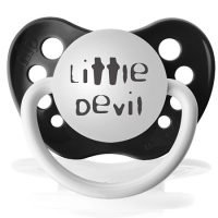 "Personalized pacifiers ""Little devil"" black dummy"