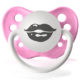 Personalized pacifiers smacker lips pink dummy