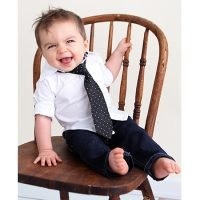 Rugged Butts Black Polka Dot Tie