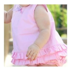 RuffleButts Pink Swing Top