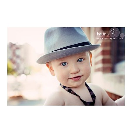 572cc5247afe1 Born To Love Clothing Triby baby Hat Grey Trilby Style Fedora Hat