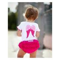 Rufflebutts Short Sleeve Angel Wings Top