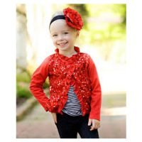 Rufflebutts Black Hairband With Red Flower