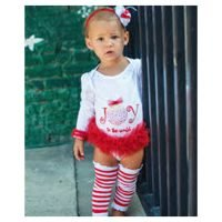 Rufflebutts Red/White Striped Legwarmers